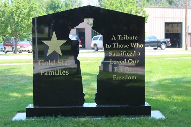Veterans Memorial Park, near the intersection of Court Street and Western Avenue, has a new monument recently installed that is designed to honor the families of those who have lost loved ones while defending the country.