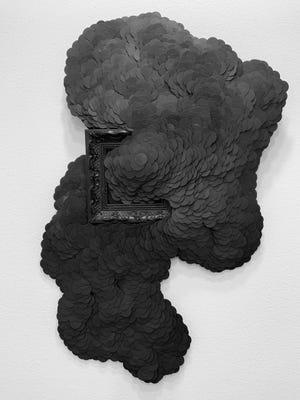 """""""Accretion in Black"""" by Julie M. Abijanac"""
