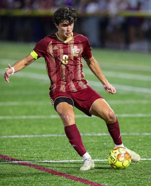 """Senior Trent Maisano scored five of Watterson's first seven goals this season, providing much-needed scoring. """"This year, to be very blunt, we've put pressure on Trent to score some goals for us, and he has,"""" coach Chad Smith said."""