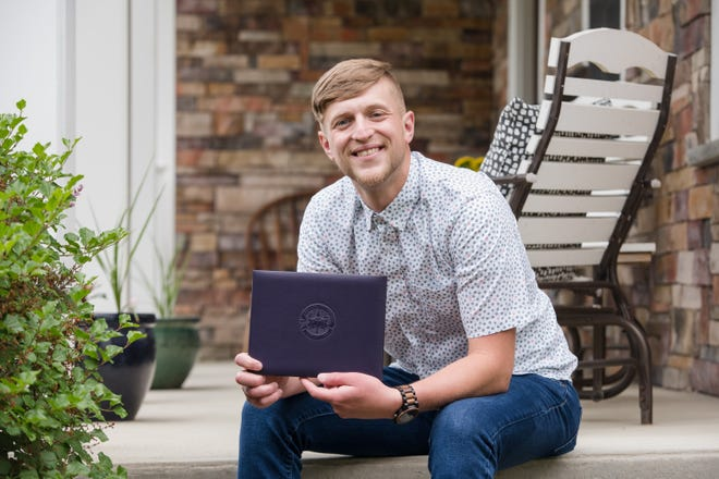 Grove City resident Chris Lyons went to prison because of a heroin addiction, but he found a lifeline there in Ashland University's Correctional Education program.He earned an associatedegree in 2018, and when he was released in 2020, he had one more course to complete to earn a bachelor's degree.
