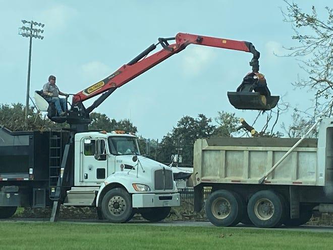 Hurricane Ida debris removal is temporarily suspended as Ascension Parish prepares for Tropical Storm Nicholas.