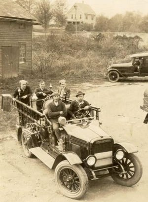 Picture is Beach Lake Volunteer Fire Department's first motorized truck. The department was organized in 1921.  / Beach Lake VFD photo