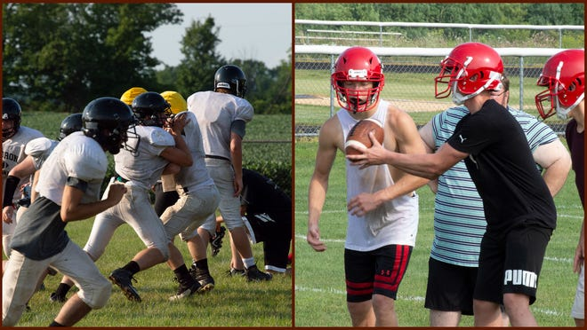 Pictured: Waldron Spartans (left), Camden-Frontier (right).