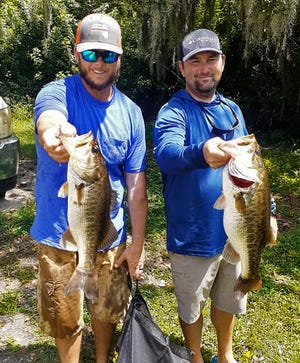 Michael Bechard, left, and Curtis Bechard had 17.31 pounds to win the Sunday Open Series tournament Sept. 5 on the Winter Haven North Chain.