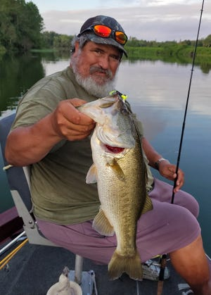 Chris Hertel of Lakeland caught this a 3.11-pound largemouth bass while fising at Tenoroc Public Use Area recently.