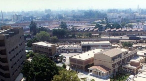 This is the Naval Medical Research Unit Three (NAMRU-3) in Cairo, Egypt, where Carleton resident Joe Diaz was stationed during the 9/11 attacks. The family of Mohamed Atta, one of the terrorist pilots, lived about five miles from Diaz's apartment.