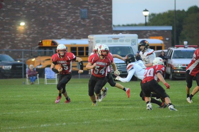 JLHS halfback, Logan May, was a shining star with a beat-up squad. Cardinals lose 48-28
