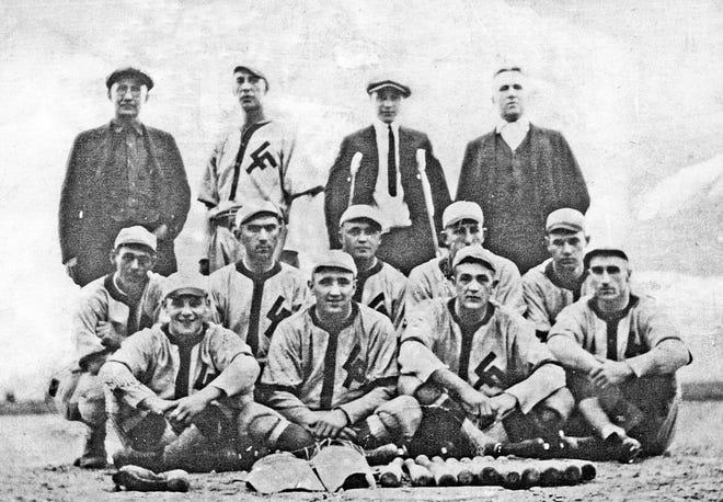 "Loeb Farms baseball team, called ""Sodbusters,"" 1919-1923"