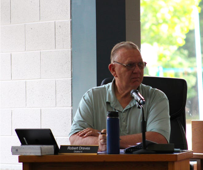Charlevoix County Commissioner Robert Draves suggested eliminating the health department's annual budget increase during the commission's bi-monthly meeting on Sept. 8.