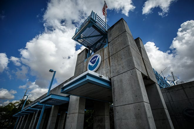 The National Hurricane Center on Florida International University's campus in Miami, Fla., on the opening of hurricane season on Wednesday, June 1,  2016. (Thomas Cordy / The Palm Beach Post)