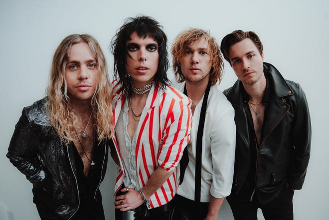 The Struts perform Wednesday as the middle band on a bill that includes headliner Shinedown and opener Ayron Jones at Four Winds Field at Coveleski Stadium.