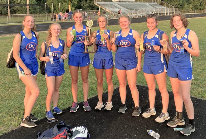 The Owen Valley girls' cross country team won the Clay City Invitational Tuesday night for the second year in a row.