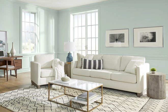 """Behr Paints' 2022 Color of the Year is Breezeway, """"a color that welcomes a hopeful sense of renewal, restoration and healing."""""""