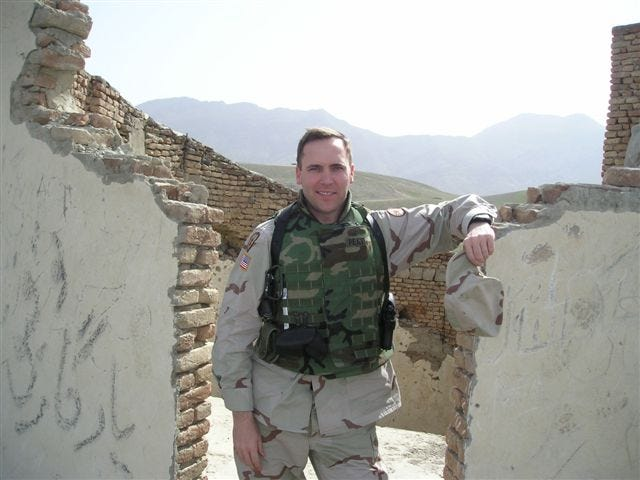Topekan Rick Peat was deployed as a member of the Kansas Army National Guard from 2004 to 2005 to Afghanistan, where he is shown in this photo.