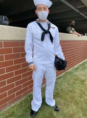 Matthew West graduated from Naval basic training in Illinois.