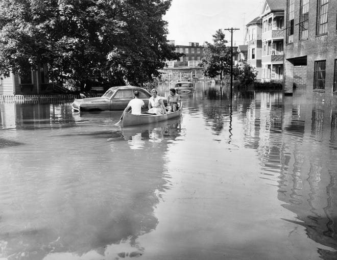 On Knowlton Avenue, there was only one way to travel after the flooding of August 1955.