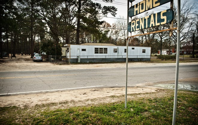Mobile Manor trailer park on Johnson Street in the Bonnie Doone neighborhood in 2012. The last trailer at the park came down earlier in 2021.