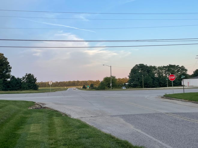 The intersection of Doc Hamilton Boulevard and State Road 37 where the stoplight was proposed.