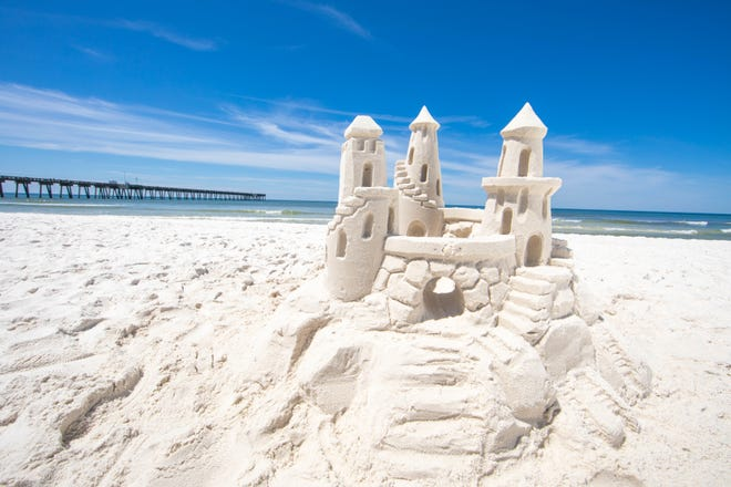 This sandcastle was built from the sugary white sands of Panama City Beach.