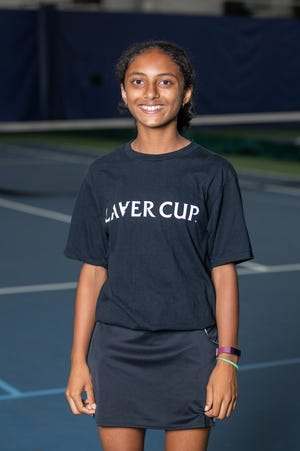 Ananya Rao,of Acton, 13, was selected to be a part of the Laver Cup 2021 Boston Ballkid Squad.