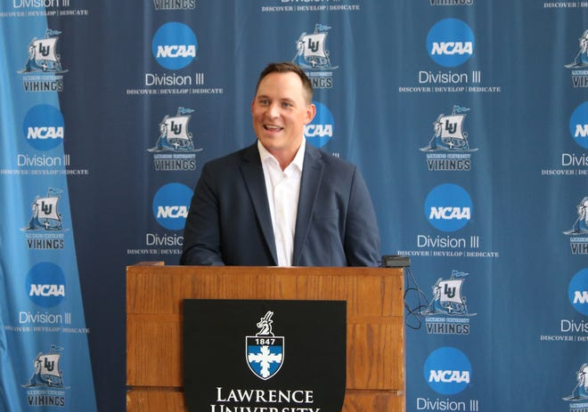Casey Korn is the new men's basketball coach at Lawrence University.