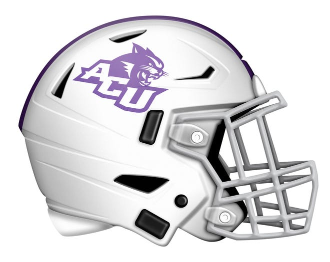 ACU white football helmet