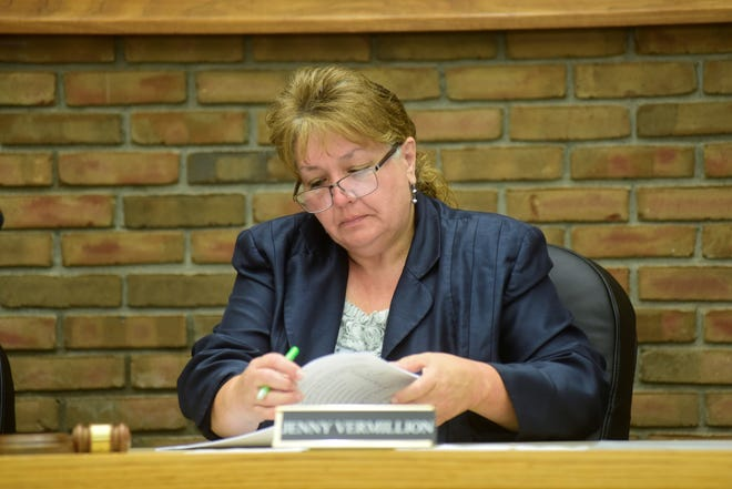 Jenny Vermillion presided over her first meeting of Bucyrus City Council on Tuesday, Sept. 7, 2021.