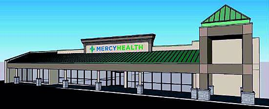 A rendering of the new offices a group of Mercy Health physicians being built on the site of a former Planet Fitness in Fairfield.