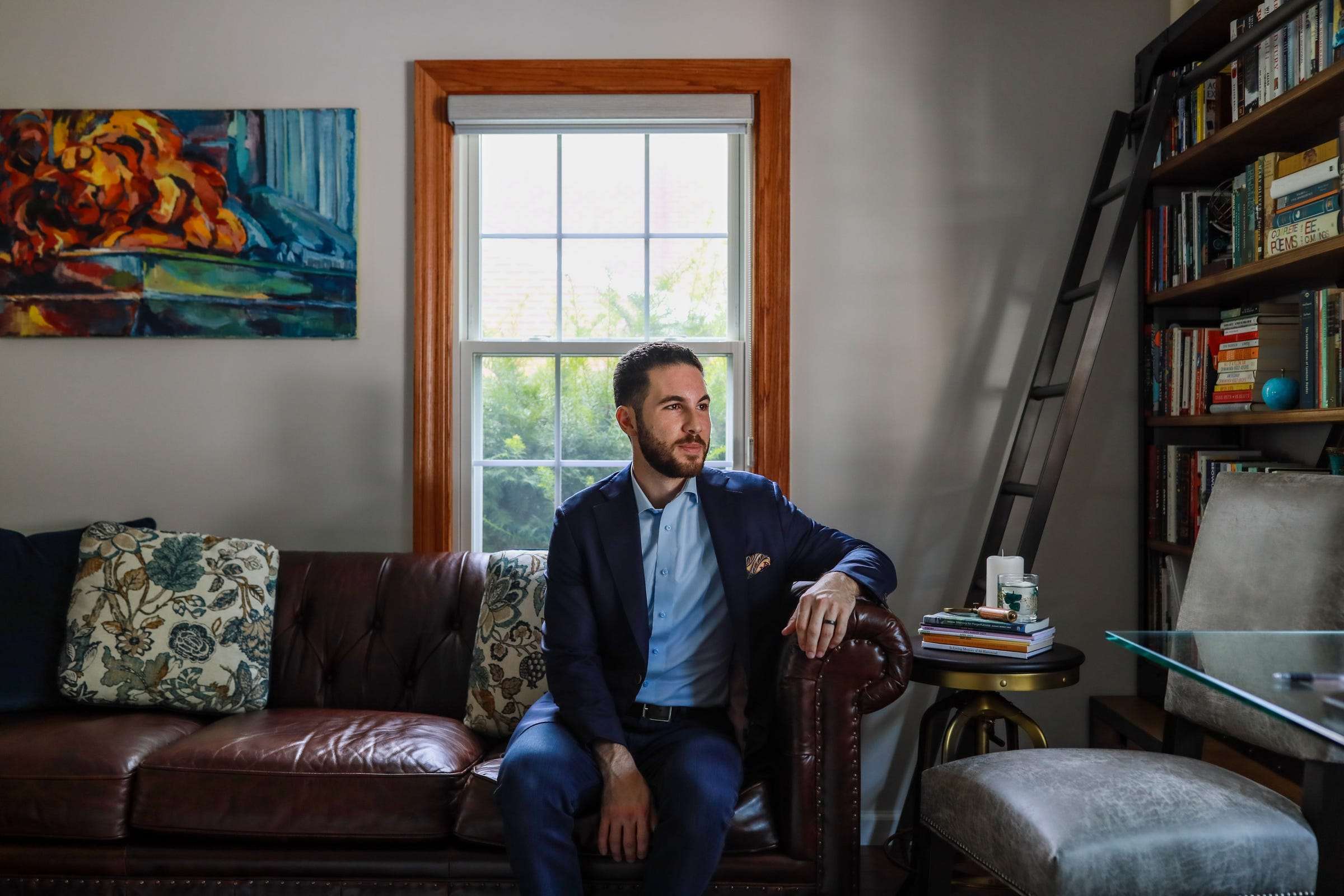"""Abdullah Hammoud, 31, of Dearborn, serves as house representative for the Michigan's 15th District and is now running for mayor of Dearborn. Hammoud, who is Lebanese, believes the community should be united, to combat Islamaphobia. """"We've built enough bridges and allies to where it lessens the burden, where if there's an issue that impacts the Muslim American community, the Arab American community, people aren't waiting for the Muslim or Arab American to speak out,"""" said Hammoud, """"They have the knowledge, they have the relationships to also stand up and speak up because, ultimately, many of these issues are humanitarian issues."""