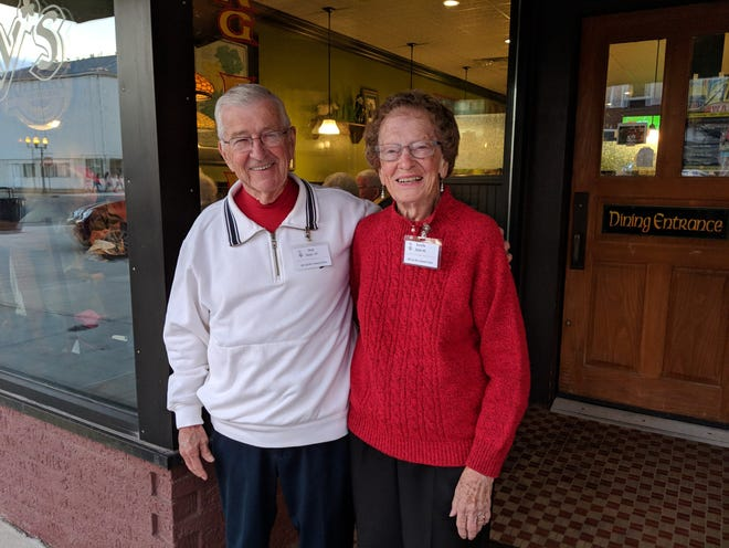 Dick and Rosella Stein welcome classmates at McCarthy's during decade gatherings at the 2018 PCHS Alumni Weekend.  The 2021 Alumni Weekend is Sept. 24-25 with a full list of events planned by the Port Clinton High School Alumni Association.