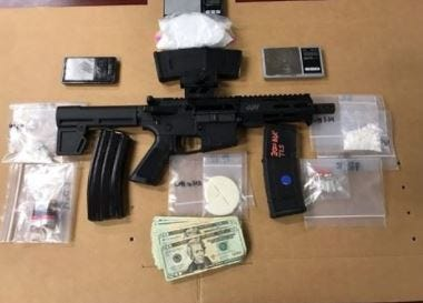 Fort Myers Police Department confiscated  24.5 grams of crack cocaine, 27.9 grams of cocaine HCI, four vials of synthetic steroids, an AR-15 pistol, three high capacity AR-15 magazines containing live ammunition and over $500 in cash while serving a warrant on Wednesday, Sept. 8, 2021.