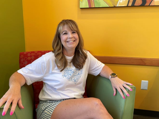 Pinckney author and life coach Shell Phelps poses for a photo Sept. 7, 2021 at Biggby Coffee, 9568 Chilson Road in Pinckney.