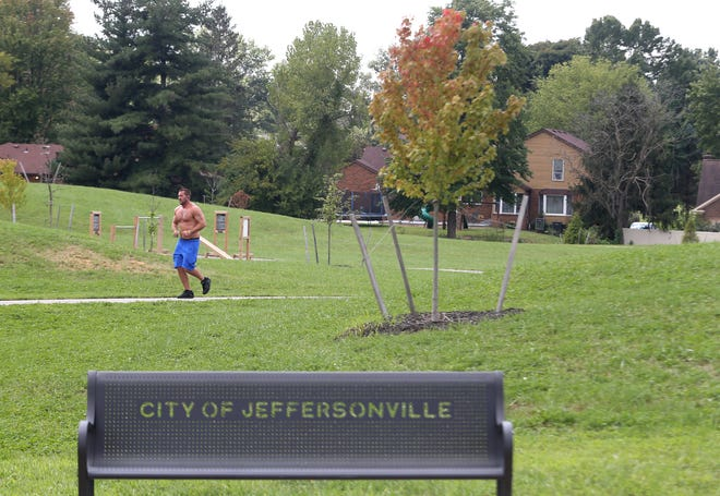 The Shirley's Arbor Park in Jeffersonville has no sidewalks around it. Sept. 8, 2021