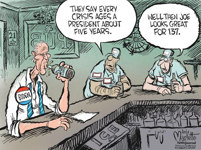 Marlette cartoon: Biden and the crisis presidency