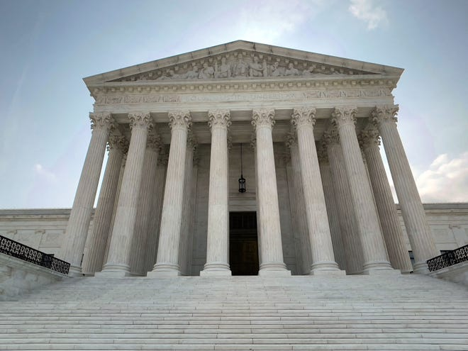 The U.S. Supreme Court building as seen on Sunday, July 11, 2021 in Washington, D.C. (Daniel Slim/AFP/Getty Images/TNS)