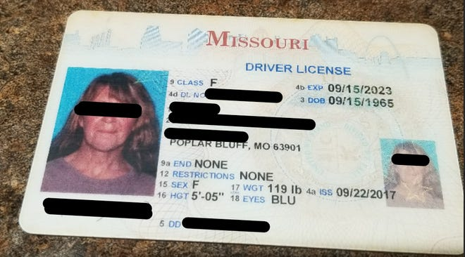 A Missouri woman reported to Better Business Bureau in recent months that fake job scammers told her this driver license belonged to a person with a local address who would hire her. The job was fake, BBB said.