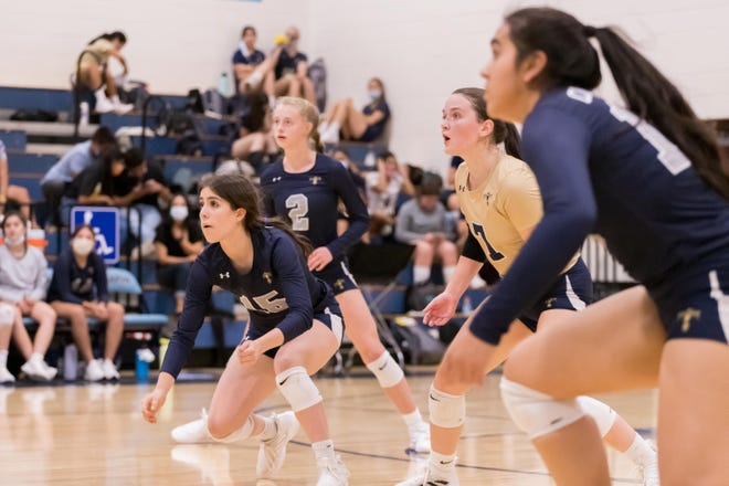 Chapin volleyball goes against CoronadoHigh School Sept. 7, 2021, at Chapin High School in El Paso.