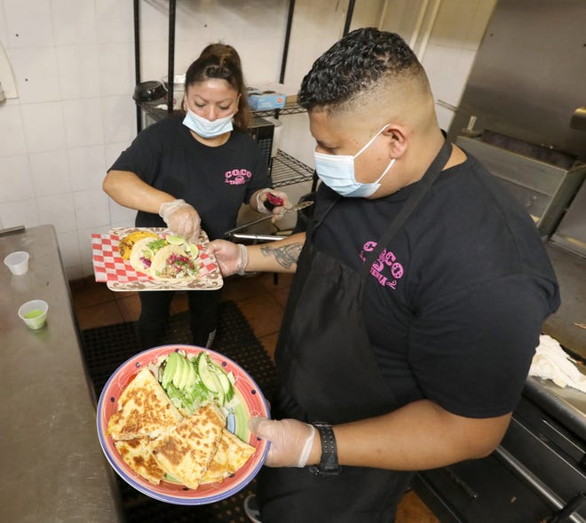 Edgar Carrillo in the kitchen at Coco Taqueria in Sleepy Hollow Sept. 8, 2021.