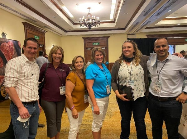 The delegation to San Jose's product showcase included Tammy Vaassen, Rosie Lisowe, Valerie Gaffney and Amy Radunz of the Wisconsin Beef Council.