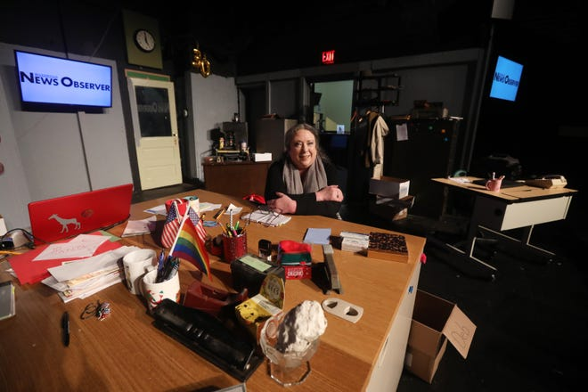 """Amy Underwood is directing """"Deadline,"""" which opens at Zanesville Community Theatre on Sept 10. The play recounts the final day of a newspaper and was written by a Zanesville native."""