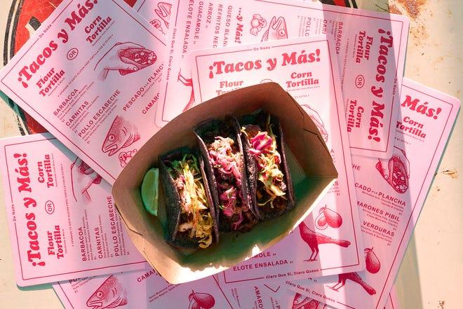 A trio of tacos at De Nada Cantina in East Austin.
