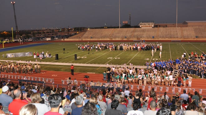 The Pflugerville Remembers 9/11 ceremony took place in 2011 at Pflugerville High School's Kuempel Field to honor first responders and the victims of the Sept. 11, 2001, terrorist attacks.
