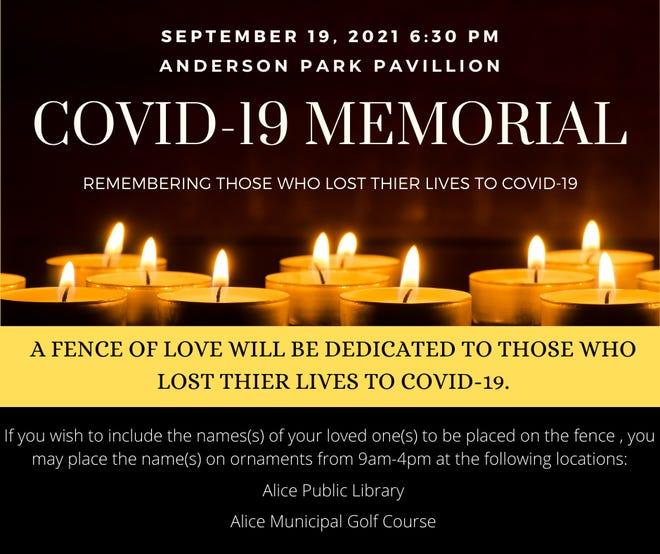 Alice COVID-19 Memorial at Anderson Park