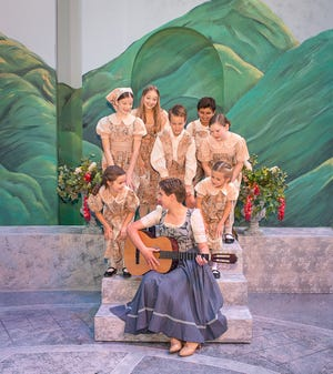 """Amarillo Little Theatre presents """"The Sound of Music"""" Sterling Knight, Allessandro Dieguez, Taylor Page Henderson, Graham Moore, Laken Derington. Alexis Williams, Chloe Sherffler and Hunter Lee. [Shaie Williams for Amarillo Globe News]"""