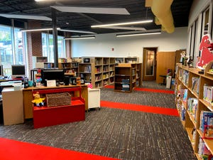 The new elementary library at Augusta Christian Schools.