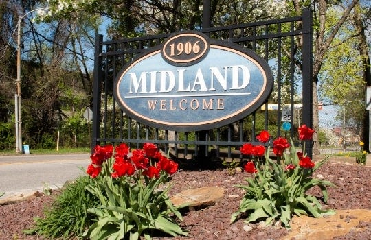 Midland officials are seeking any financial aid to help fix a stormwater pipe.