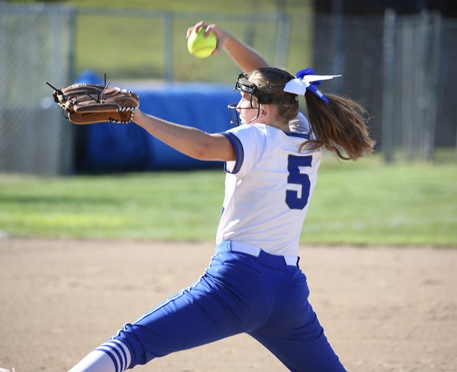 Boonville freshman pitcher Lillian Newham picked up her first career varsity win in a 10-0 shutout against the Smith-Cotton Tigers Wednesday at Bill Simmons field at Rolling Hills park.