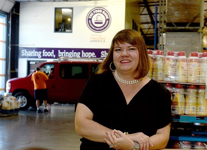 Lindsay Lopez, president and CEO of The Food Bank for Central and Northeast Missouri, is celebrating the food bank's 40th anniversary of operation Friday. The Food Bank distributes over 30 million pounds of food annually.