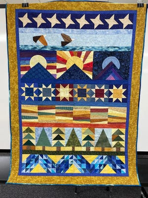 """""""America the Beautiful"""" by Karen Paganini is on display at the library, and is for sale as well."""