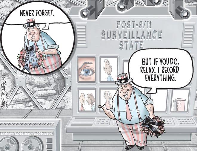 Mike Thompson cartoon, USA TODAY